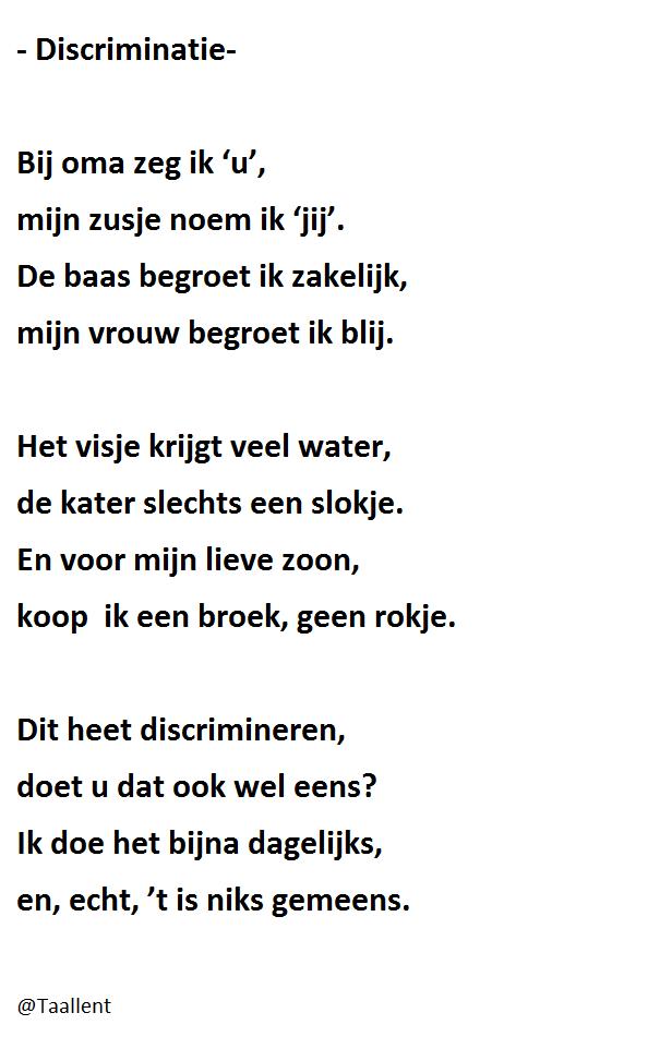 099) Discriminatie